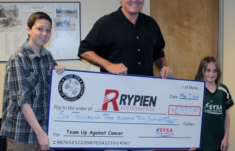 SYSA Blue-Toe event raises $6,337 for Rypien Foundation