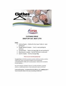 ClothesforCause-SYSA Flyer